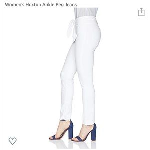 PAIGE High Rise Hoxton white ankle jeans